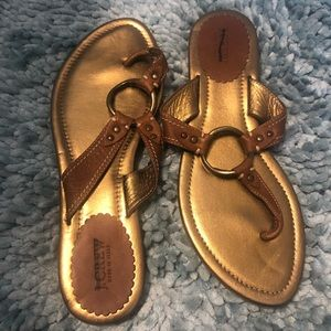J Crew leather thong sandal, 9